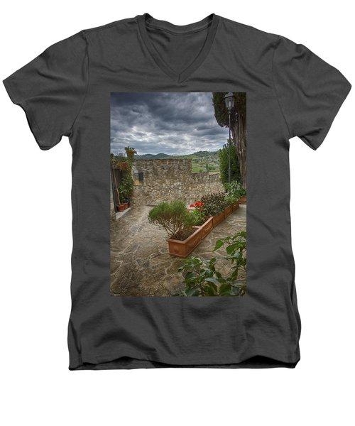 Montefioralle Tuscany 4 Men's V-Neck T-Shirt