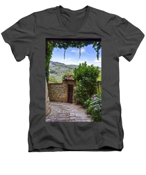 Montefioralle, Tuscany Men's V-Neck T-Shirt