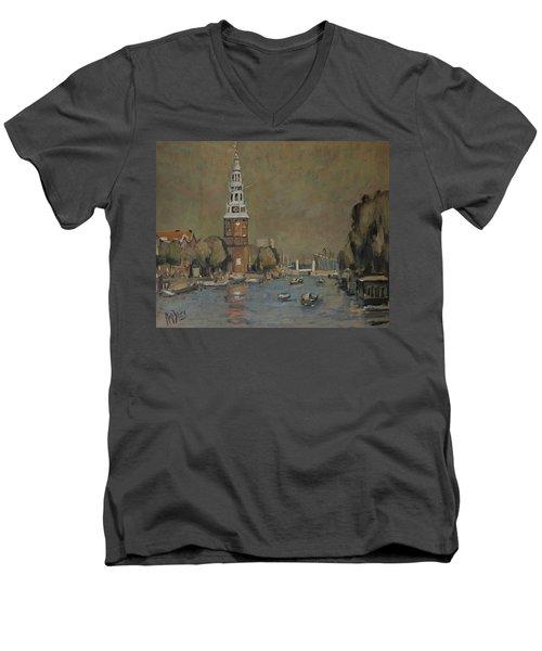 Montelbaanstoren Amsterdam Men's V-Neck T-Shirt