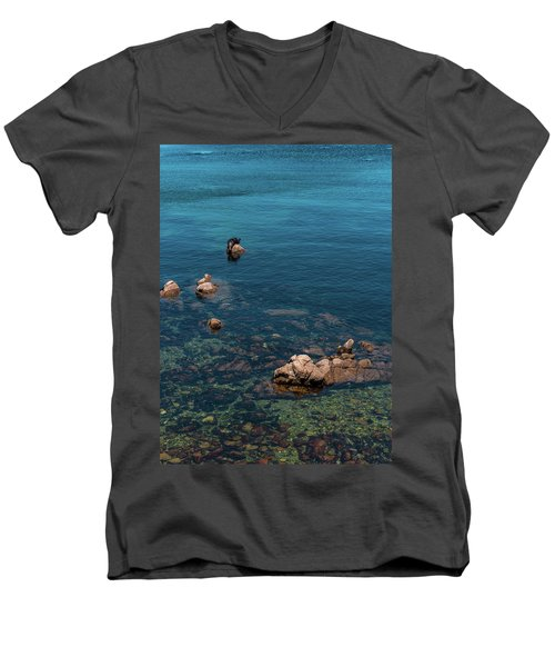 Monterey Men's V-Neck T-Shirt by Martina Thompson
