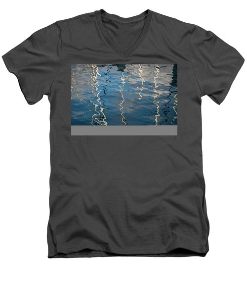 Men's V-Neck T-Shirt featuring the photograph Monterey Reflection I Color by David Gordon