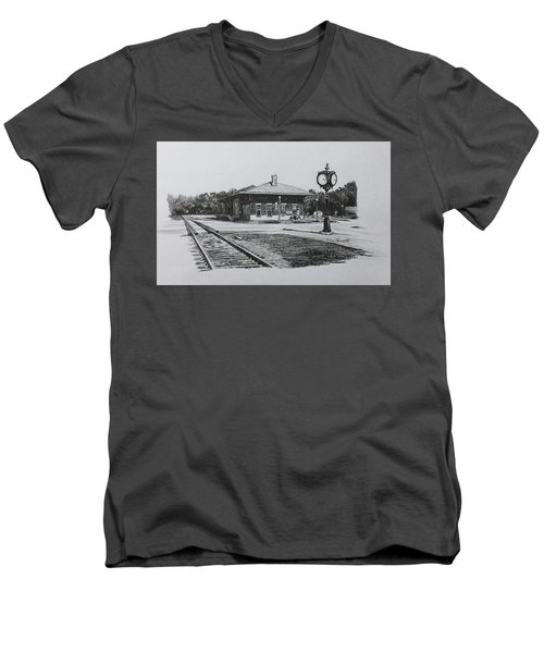 Montezuma Depot Men's V-Neck T-Shirt