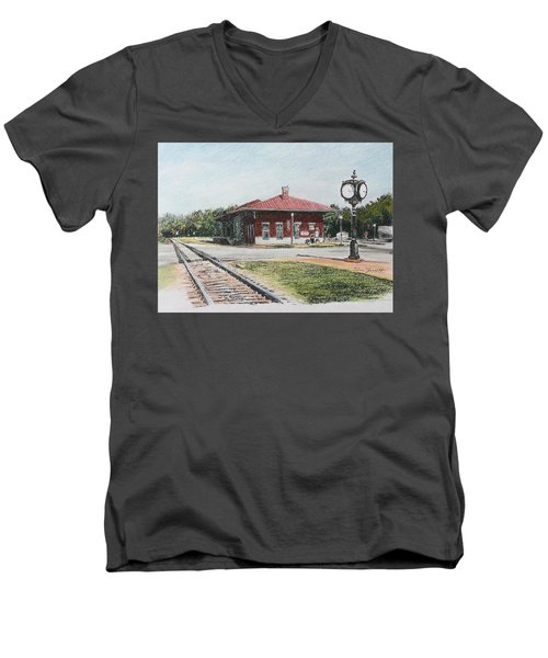 Montezuma Train Depot Men's V-Neck T-Shirt
