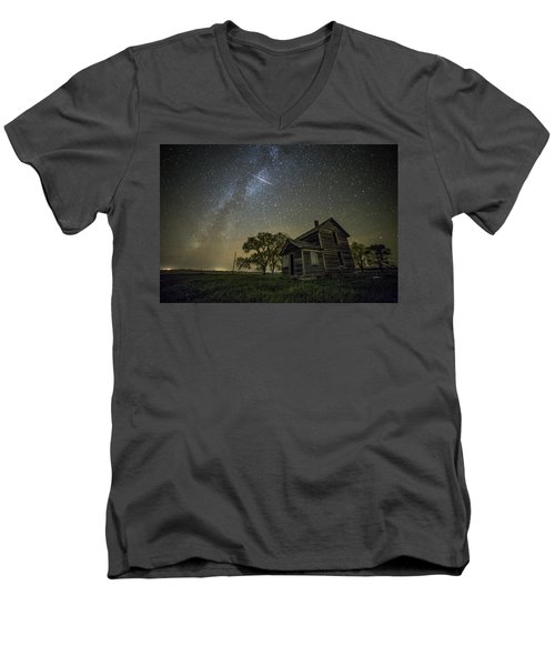 Men's V-Neck T-Shirt featuring the photograph Montrose Orionid by Aaron J Groen