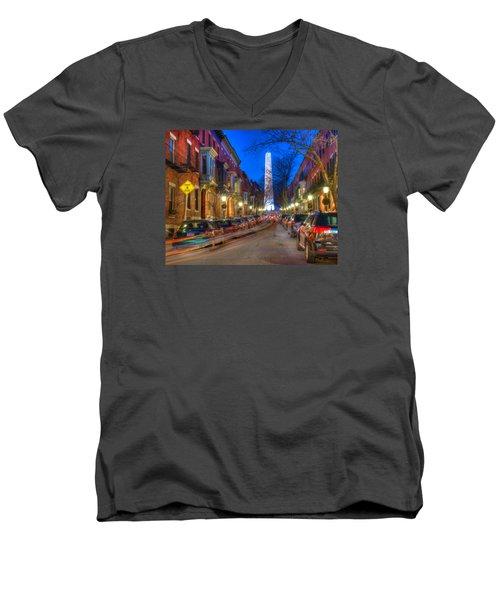 Monument Street Charlestown 023 Men's V-Neck T-Shirt