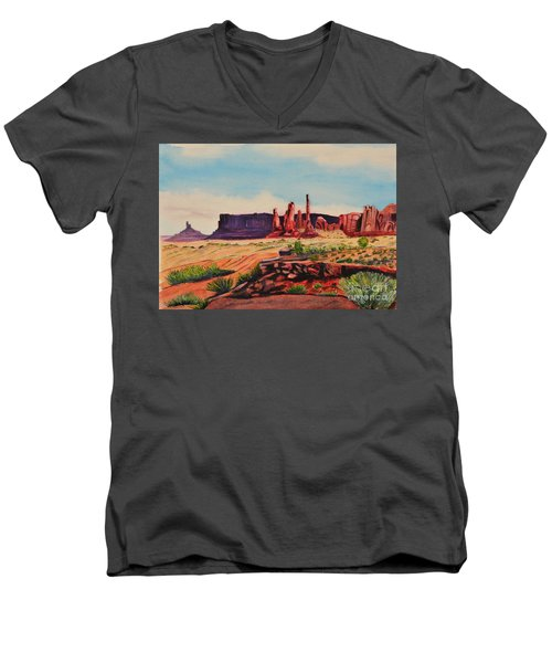 Monument Valley Men's V-Neck T-Shirt