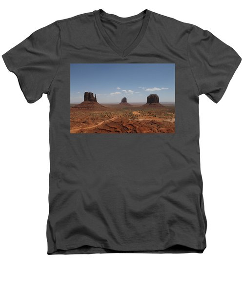 Monument Valley Navajo Park Men's V-Neck T-Shirt by Christopher Kirby
