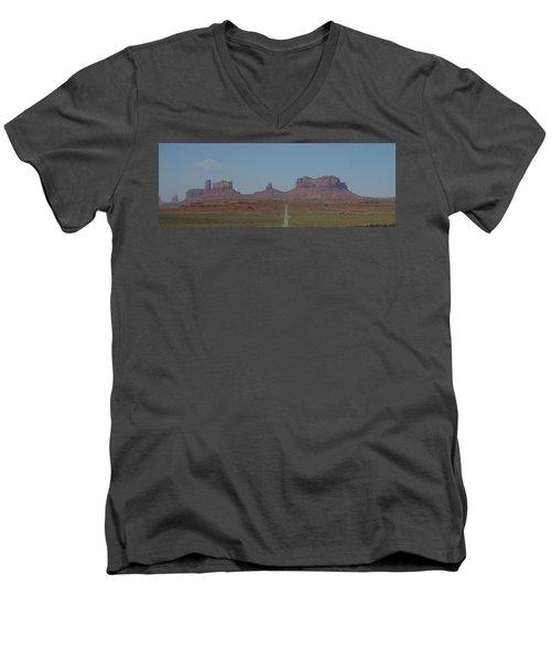 Monument Valley Navajo Tribal Park Men's V-Neck T-Shirt by Christopher Kirby