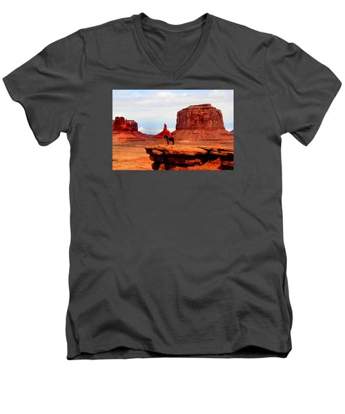 Monument Valley Men's V-Neck T-Shirt by Tom Prendergast
