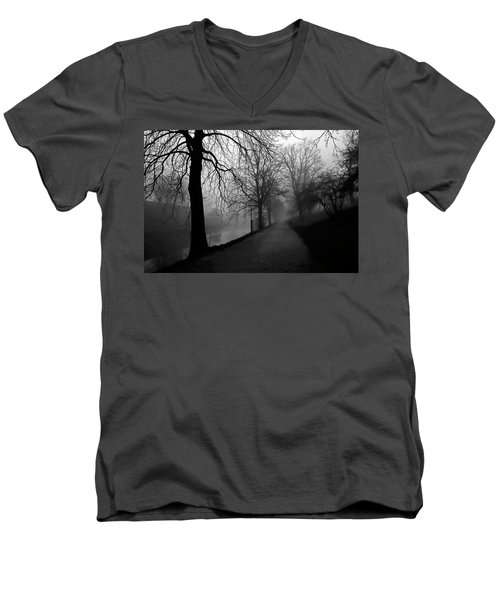 Moody And Misty Morning Men's V-Neck T-Shirt by Inge Riis McDonald