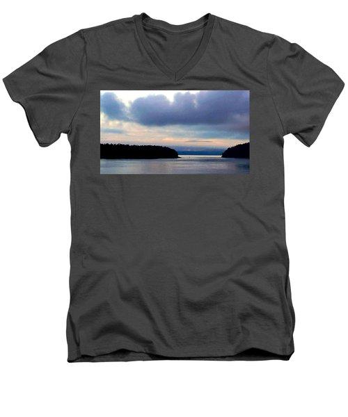 Moody Blue Men's V-Neck T-Shirt