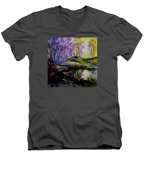 Moody Woods Men's V-Neck T-Shirt