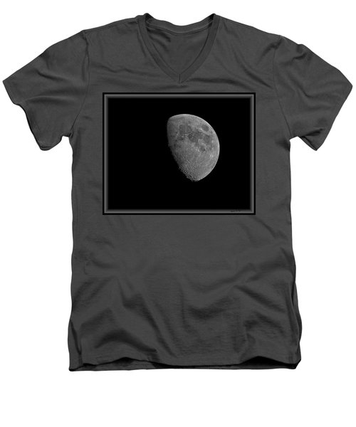 Men's V-Neck T-Shirt featuring the photograph Moon 67 Percent Fr23 by Mark Myhaver