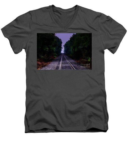 Moon And Steel Men's V-Neck T-Shirt