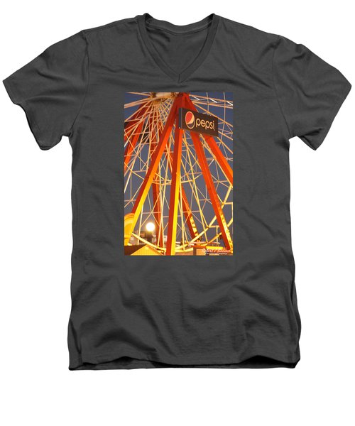 Moon And The Ferris Wheel Men's V-Neck T-Shirt