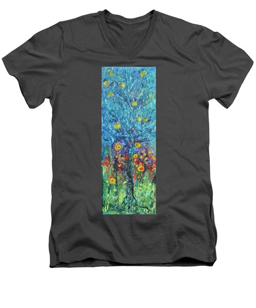 Moon Flowers Men's V-Neck T-Shirt