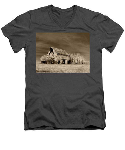 Moon Lit Sepia Men's V-Neck T-Shirt