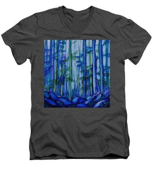 Moonlit Forest Men's V-Neck T-Shirt