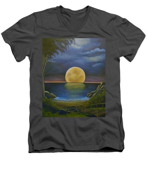 Moon Of My Dreams II Men's V-Neck T-Shirt by Sheri Keith