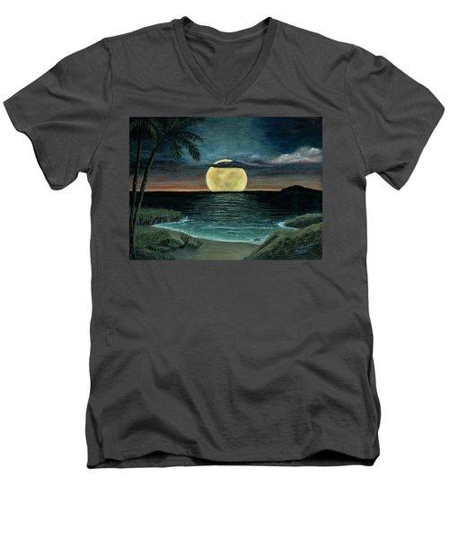 Moon Of My Dreams IIi Men's V-Neck T-Shirt