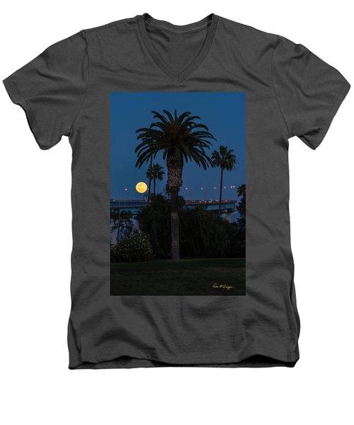 Moon On The Rise Men's V-Neck T-Shirt