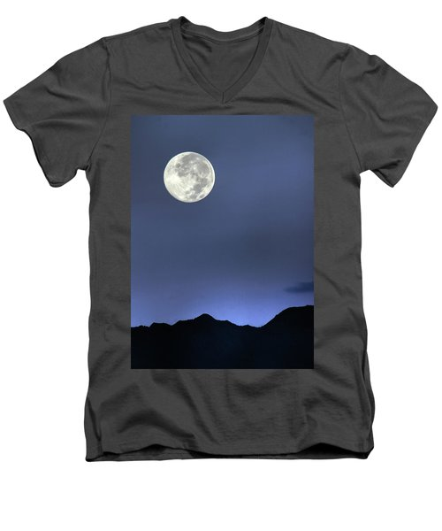 Moon Over Ko'olau Men's V-Neck T-Shirt