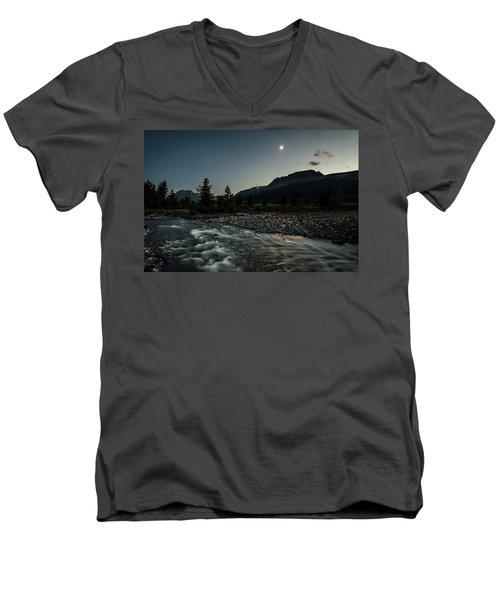 Moon Over Montana Men's V-Neck T-Shirt