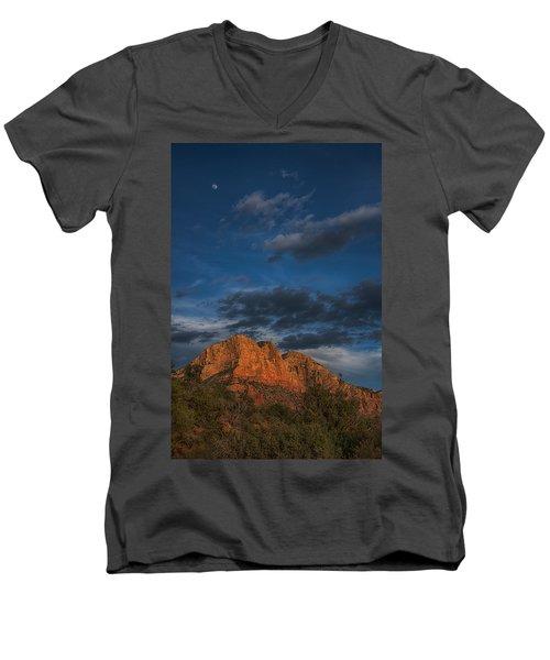 Moon Over Sedona Men's V-Neck T-Shirt