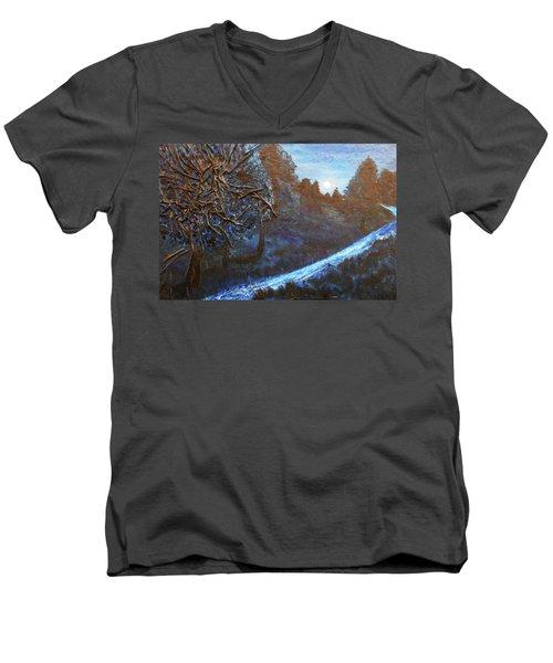 Moon Rise  Men's V-Neck T-Shirt