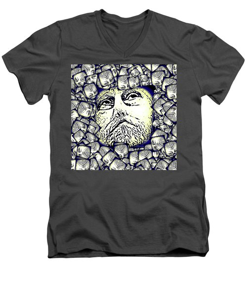 Moon Rocks Men's V-Neck T-Shirt