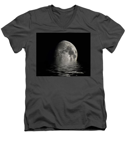 Moon Set... Men's V-Neck T-Shirt