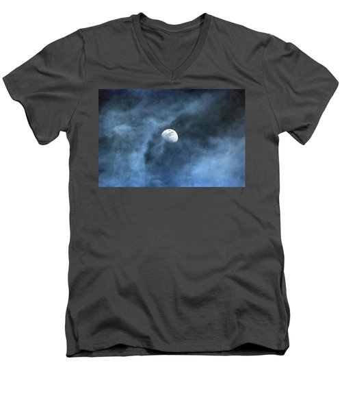 Moon Smoke Men's V-Neck T-Shirt by David Stasiak