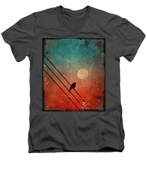 Moon Talk Men's V-Neck T-Shirt by Tara Turner