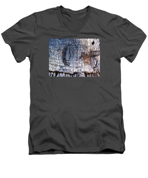 Men's V-Neck T-Shirt featuring the photograph Moon by Vanessa Palomino