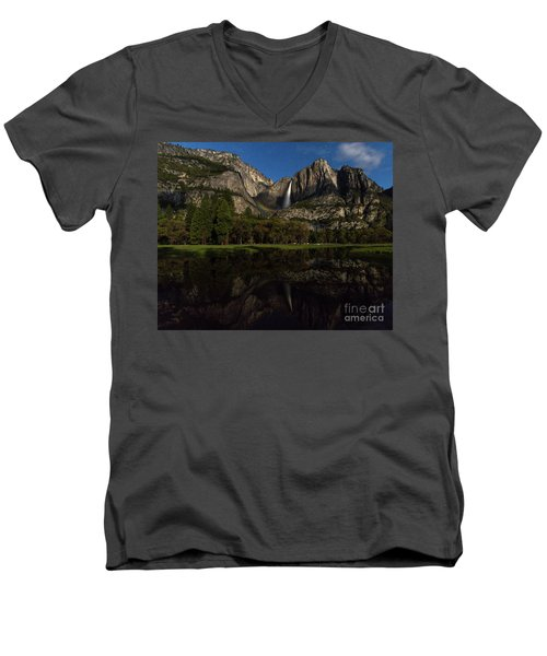 Moonbow Upper Falls Men's V-Neck T-Shirt