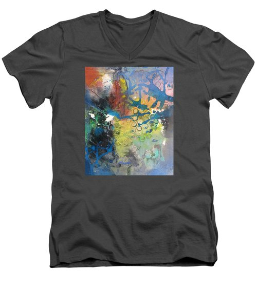 Moonglow Men's V-Neck T-Shirt by Becky Chappell