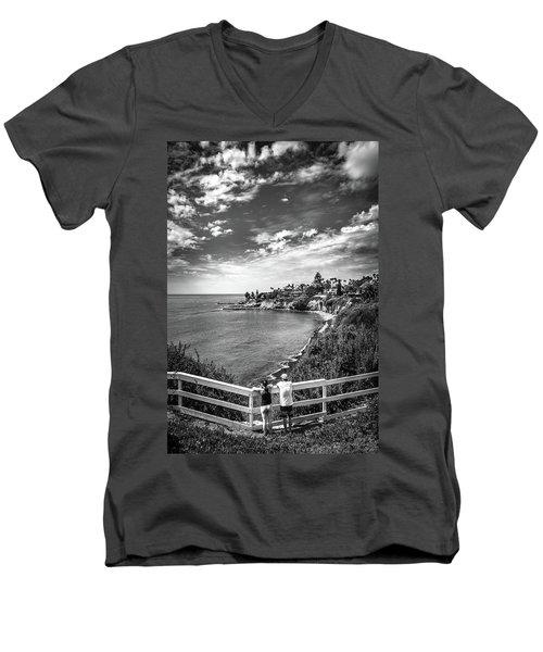 Moonlight Cove Overlook Men's V-Neck T-Shirt