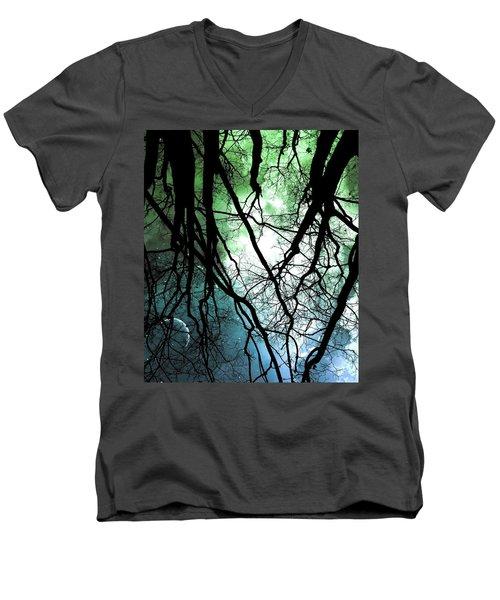 Moonlight Forest  Men's V-Neck T-Shirt
