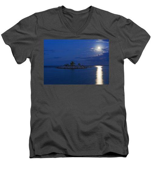 Moonlight Island Men's V-Neck T-Shirt