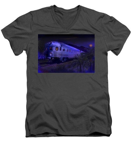 Moonlight On The Sante Fe Chief Men's V-Neck T-Shirt