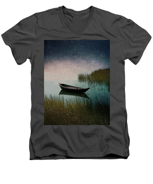 Moonlight Paddle Men's V-Neck T-Shirt by Brooke T Ryan