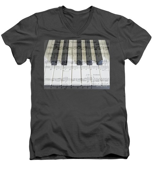 Moonlight Sonata 3rd Movement Men's V-Neck T-Shirt