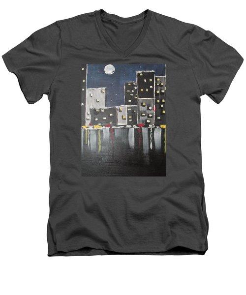 Moonlighters Men's V-Neck T-Shirt by Sharyn Winters