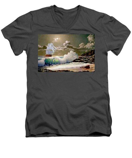 Moonlit Clipper Men's V-Neck T-Shirt