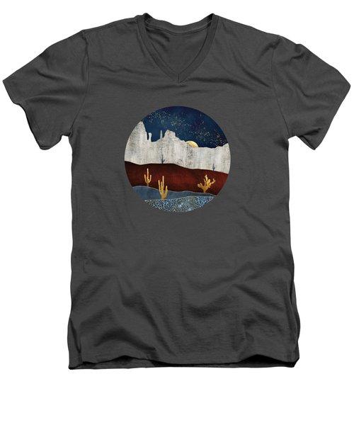 Moonlit Desert Men's V-Neck T-Shirt