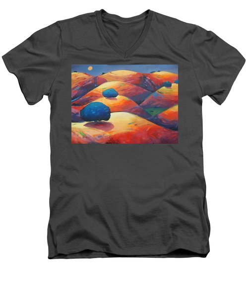 Moonlit Rollers Men's V-Neck T-Shirt by Gary Coleman
