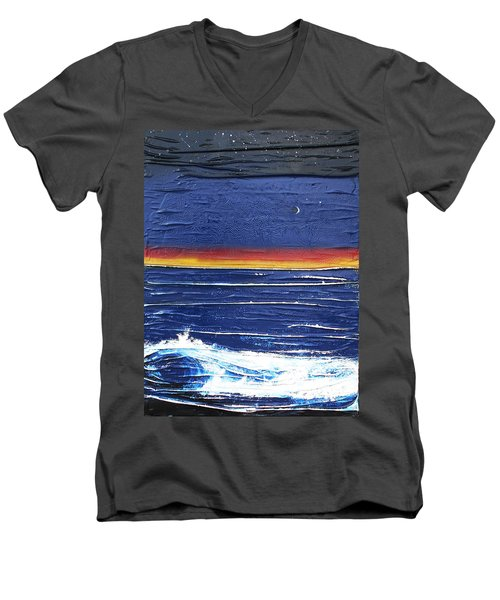 Moonlit Seascape Men's V-Neck T-Shirt