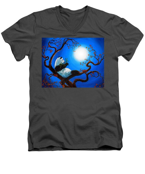 Moonlit Snack Men's V-Neck T-Shirt