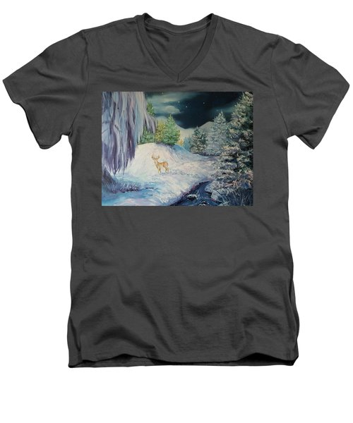 Moonlit Surprise Men's V-Neck T-Shirt