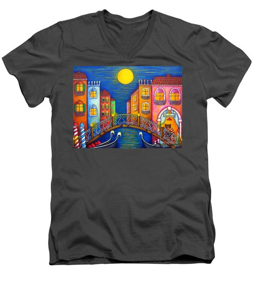 Moonlit Venice Men's V-Neck T-Shirt